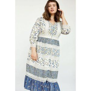 by Anthropologie Roberta Maxi Dress Floral 16W